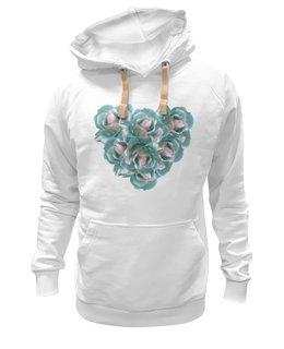 """Толстовка Wearcraft Premium унисекс """"Ледяные розы """" - сердце, цветы, розы, букет, нежные цветы"""