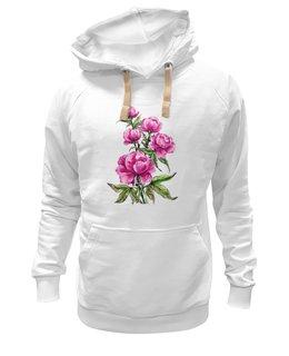 """Толстовка Wearcraft Premium унисекс """"Пионы"""" - цветы, весна, розовый, подарок, пион"""