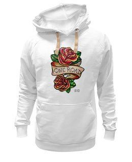"Толстовка Wearcraft Premium унисекс ""One road тол"" - арт, олд скул, розы, roses, tm kiseleva"