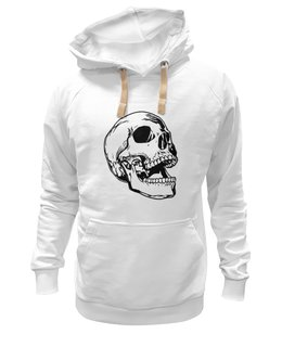 """Толстовка Wearcraft Premium унисекс """"Белая толстовка с черепом."""" - skull"""