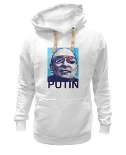 """Толстовка Wearcraft Premium унисекс """"Путин"""" - россия, путин, putin, украина, самый вежливый человек"""