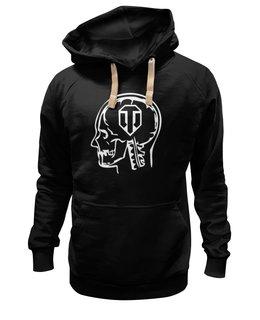 "Толстовка Wearcraft Premium унисекс ""Skull WOT"" - прикол, games, игры, игра, game, логотип, world of tanks, танки, wot, tanks"