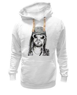 "Толстовка Wearcraft Premium унисекс ""Kurt Cobain "" - гранж, nirvana, стиль, рисунок, kurt cobain, курт кобейн"