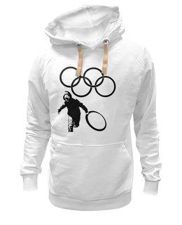 "Толстовка Wearcraft Premium унисекс "" Кольца Олимпиады"" - спорт, олимпиада, 2014, логотип, креативно, olympics, кольца, rings, кольца олимпиады"