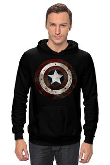 "Толстовка Wearcraft Premium унисекс ""Капитан Америка"" - супергерои, marvel, капитан америка, captain america"