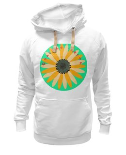 """Толстовка Wearcraft Premium унисекс """"Счастье есть"""" - цветы, солнце, счастье, подсолнух"""