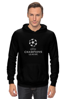 """Толстовка """"UEFA  CHAMPIONS LEAGUE"""" - футбол, football, uefa, лига чемпионов, league, уефа, champions"""