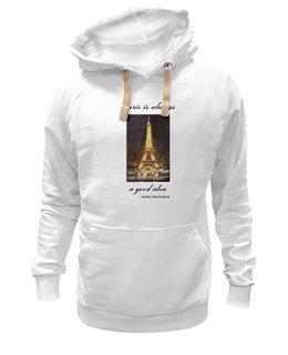 """Толстовка Wearcraft Premium унисекс """"Париж"""" - шоколад, париж, одри хепберн, paris, эйфелева башня"""