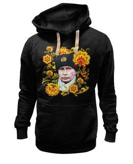 "Толстовка Wearcraft Premium унисекс ""Путин – Хохлома"" - любовь, москва, владимир, россия, патриотизм, политика, путин, президент, putin, общество"