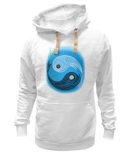 """Толстовка Wearcraft Premium унисекс """"Символ Инь-Янь (фантазийный рисунок)"""" - любовь, рисунок, азия, символ, мехенди"""