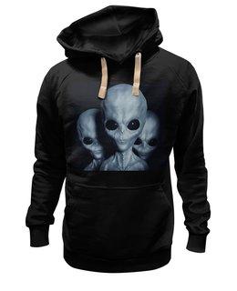 """Толстовка Wearcraft Premium унисекс """"Aliens"""" - alien, фантастика, инопланетяне, нло, пришелец"""