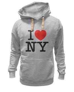 "Толстовка Wearcraft Premium унисекс ""Я Люблю Нью-Йорк"" - сердце, нью-йорк, я люблю нью-йорк"