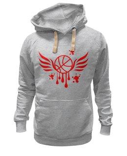 "Толстовка Wearcraft Premium унисекс ""Баскетбол"" - крылья, бег, спорт, мяч, баскетбол"