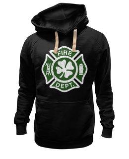 """Толстовка Wearcraft Premium унисекс """"Ирландский пожарный"""" - ирландия, день святого патрика, клевер"""