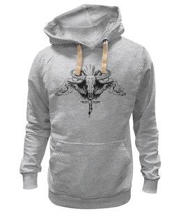 "Толстовка Wearcraft Premium унисекс ""Mary Makes Tatoo Style"" - арт, авторские майки, черепа, мужская, футболка мужская, тату, брутальный, на стиле, рога"
