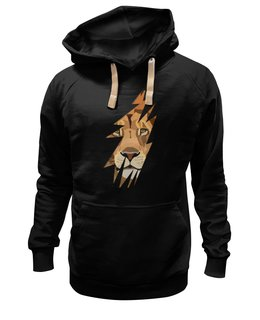 """Толстовка Wearcraft Premium унисекс """"Лев ( Lion)"""" - хищник, лев, lion, животное, царь зверей"""
