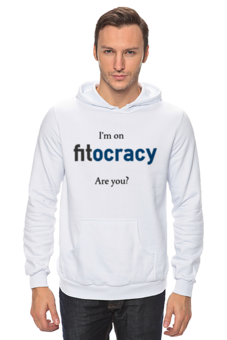 """Толстовка Wearcraft Premium унисекс """"I'm on fitocracy, are you?"""" - fitocracy, gym, weightlifting, fitness"""
