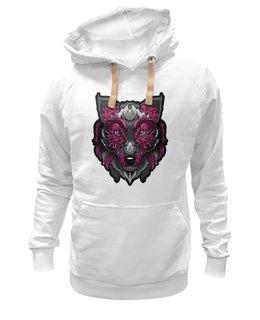 """Толстовка Wearcraft Premium унисекс """"Магический волк"""" - арт, собака, волк"""