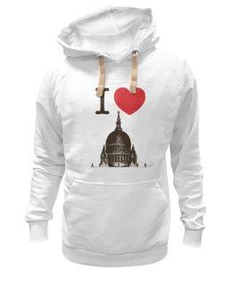 """Толстовка Wearcraft Premium унисекс """"Я люблю Лондон"""" - лондон, англия, i love london, британия, я люблю"""