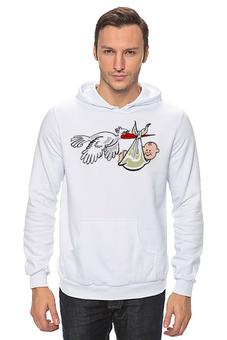 "Толстовка ""Gift Stork"" - прикол, супер, арт, красиво, классно, семья, baby, подарок, family, ребёнок"