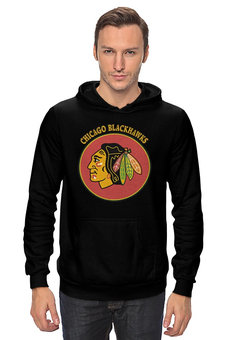 "Толстовка Wearcraft Premium унисекс ""Чикаго Блэкхокс"" - хоккей, nhl, нхл, чикаго блэкхокс, chicago blackhawks"