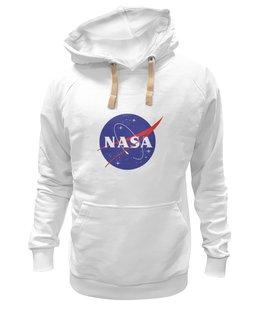 "Толстовка Wearcraft Premium унисекс ""NASA | НАСА"" - звезды, космос, nasa, футболка космос, одежда космос"