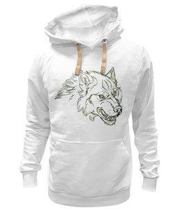 "Толстовка Wearcraft Premium унисекс ""Angry Wolf Толстовка "" - волк, wolf"