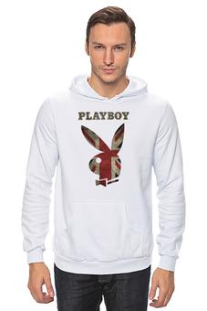 """Толстовка Wearcraft Premium унисекс """"Playboy Британский флаг"""" - playboy, плейбой, зайчик, великобритания, плэйбой"""