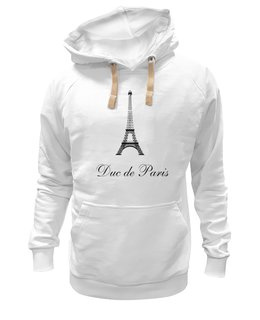 """Толстовка Wearcraft Premium унисекс """"Duc de Paris"""" - франция, париж, эйфелева башня"""