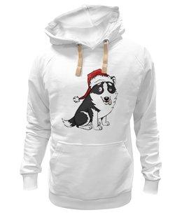 "Толстовка Wearcraft Premium унисекс ""Smokey"" - dog, пёс, husky, лайка"