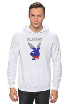 """Толстовка Wearcraft Premium унисекс """"Playboy Россия"""" - playboy, россия, плейбой, зайчик, плэйбой"""