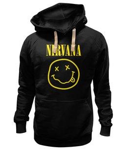 "Толстовка Wearcraft Premium унисекс ""Nirvana"" - nirvana, рок, группы, курт кобейн, нирвана"