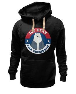 """Толстовка Wearcraft Premium унисекс """"Ice Bear"""" - ice bear, медведь, зима, новый год, россия"""