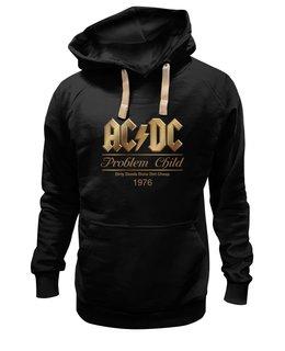 "Толстовка Wearcraft Premium унисекс ""AC/DC"" - music, rock, золото, хард-рок, асдс"