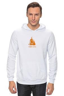 "Толстовка Wearcraft Premium унисекс ""Nirvana-orange"" - nirvana, монах, буддизм, yoga, lingam"