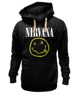 "Толстовка Wearcraft Premium унисекс ""Nirvana "" - супер, арт, nirvana, стиль, kurt cobain, логотип, гранж"