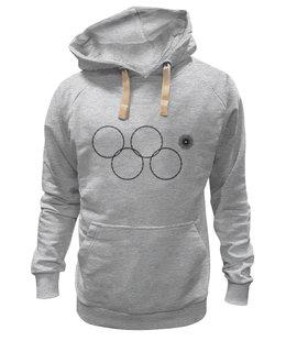 "Толстовка Wearcraft Premium унисекс ""Олимпийские кольца в Сочи 2014"" - олимпиада, нераскрывшееся олимпийское кольцо, олипийские кольца, сочи-2014, sochi-2014"