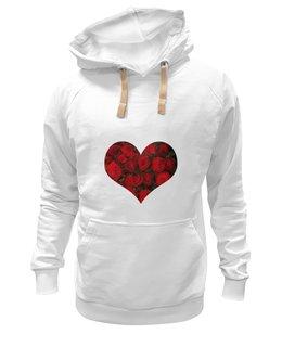 """Толстовка Wearcraft Premium унисекс """"Любовь..."""" - сердце, цветы, 14 февраля, подарок, мужчине"""