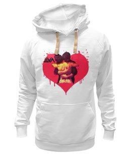 "Толстовка Wearcraft Premium унисекс ""LOVE YOU"" - арт, love, обними меня, люблю тебя, hug me"