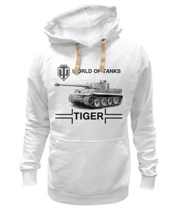 "Толстовка Wearcraft Premium унисекс ""WOT Tiger"" - tiger, world of tanks, танк, tank, wot"