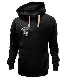 """Толстовка Wearcraft Premium унисекс """"sons of anarchy"""" - смерть, байкер, sons of anarchy, сыны анархии, смерть с косой"""