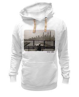 "Толстовка Wearcraft Premium унисекс ""NYC 1954"" - new york, photo, нью йорк, nyc"