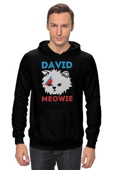 "Толстовка ""David Bowie"" - cat, david bowie"