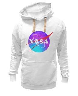 "Толстовка Wearcraft Premium унисекс ""Nasa логотип"" - космос, логотип, nasa, наса, лого"