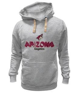 "Толстовка Wearcraft Premium унисекс ""Аризона Койотис "" - хоккей, nhl, нхл, arizona coyotes, аризона койотис"