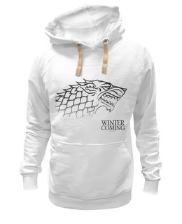 "Толстовка Wearcraft Premium унисекс ""winter is coming"" - winter is coming, game of thrones, stark, игра престолов"