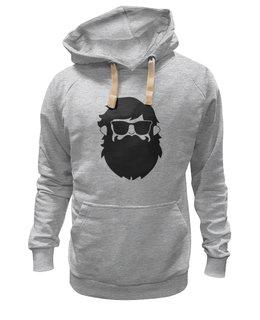 "Толстовка Wearcraft Premium унисекс ""Borodachi Black"" - борода, усы, beard, бородачи, отпускаем бороду, усачи, borodachi, mustaches, beard in city, beard in moscow"