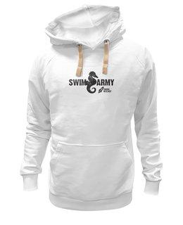 """Толстовка Wearcraft Premium унисекс """"Swim Army"""" - бег, соревнования, плавание, открытая вода, триатлон"""