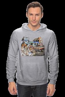 """Толстовка Wearcraft Premium унисекс """"Индейцы. Путешествие по США"""" - авто, сша, автомобили, путешествия, машины, индейцы"""