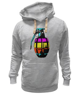 "Толстовка Wearcraft Premium унисекс ""Color Grenade "" - рисунок, grenade, граната, лимонка, colorful"